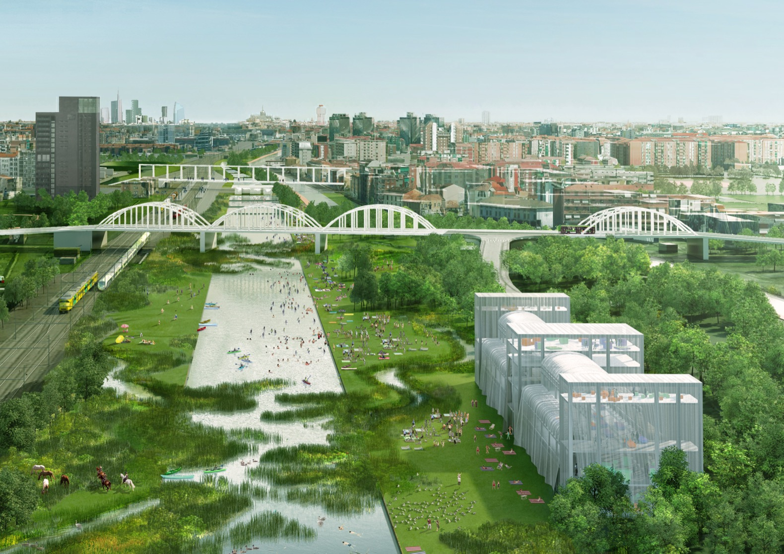Architects to transform two old railway yards into eco parks in Milan