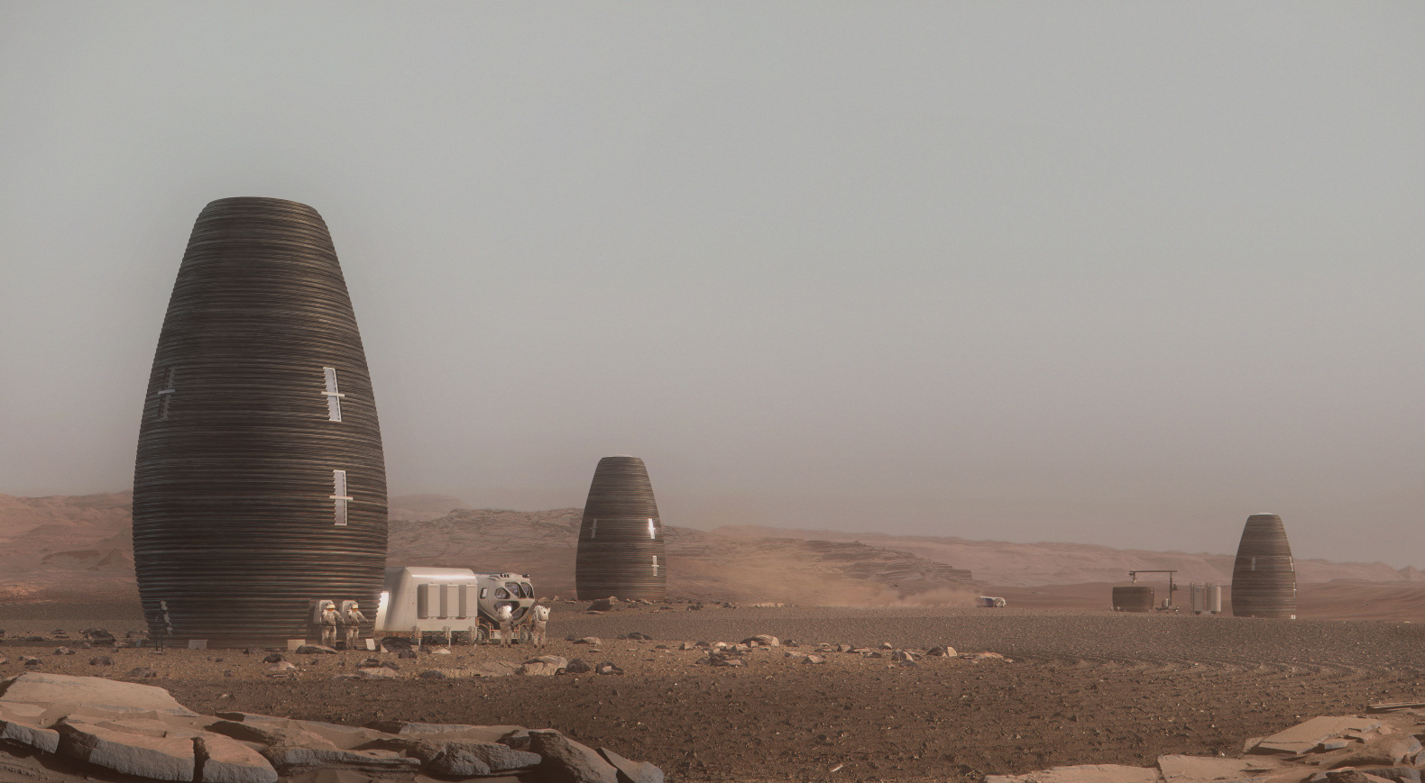 NASA Mars Habitat Challenge winner is a 3D-printed pod made of biodegradable materials
