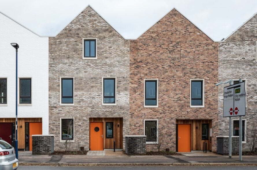 cohousing homes with orange doors