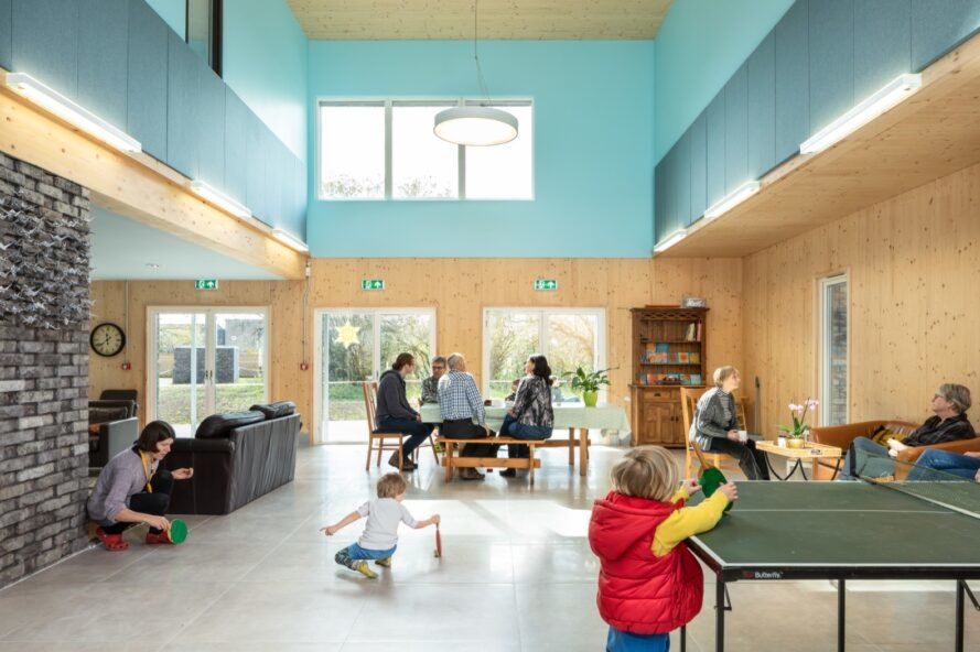 children play together at custom designed play area