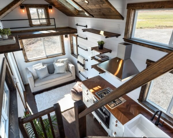 Tiny Home On Wheels With Brilliant Interiors And Two Lofts Can Be Yours For 56k