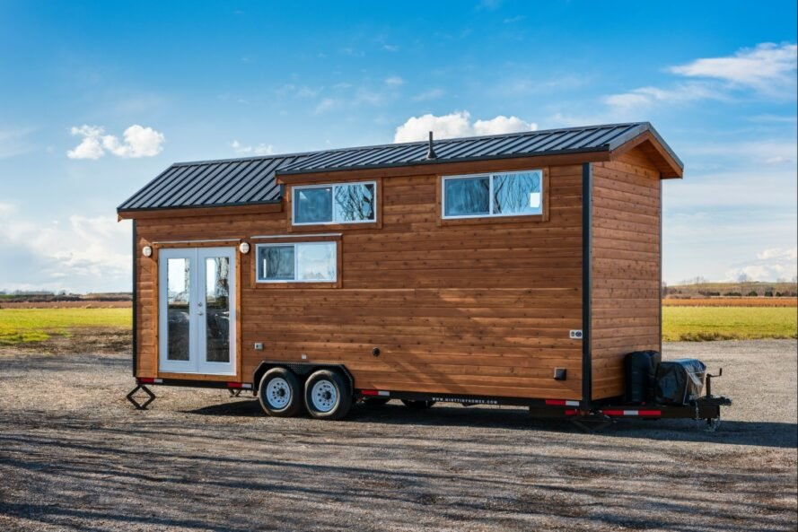 tiny home with cedar siding