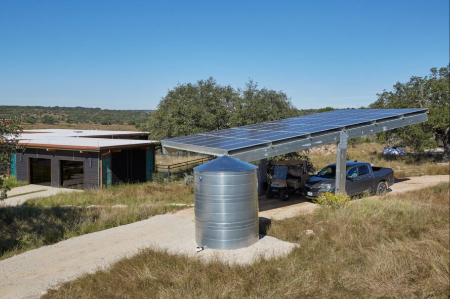 home with large carport covered in solar panels
