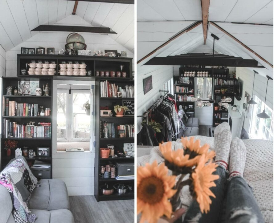 interior living space of tiny home