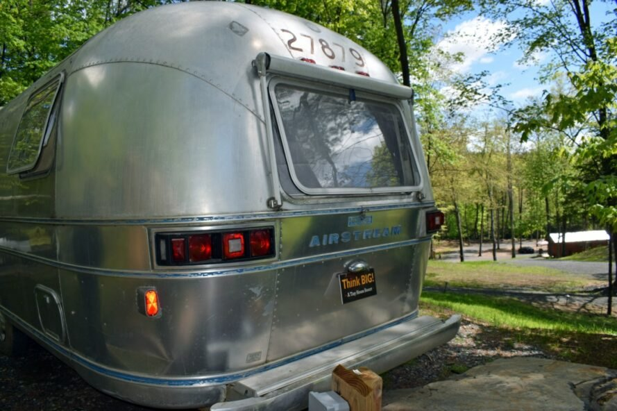back of renovated airstream