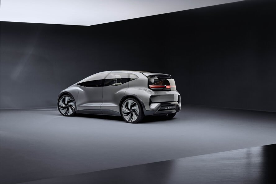 rendering of side of electric car