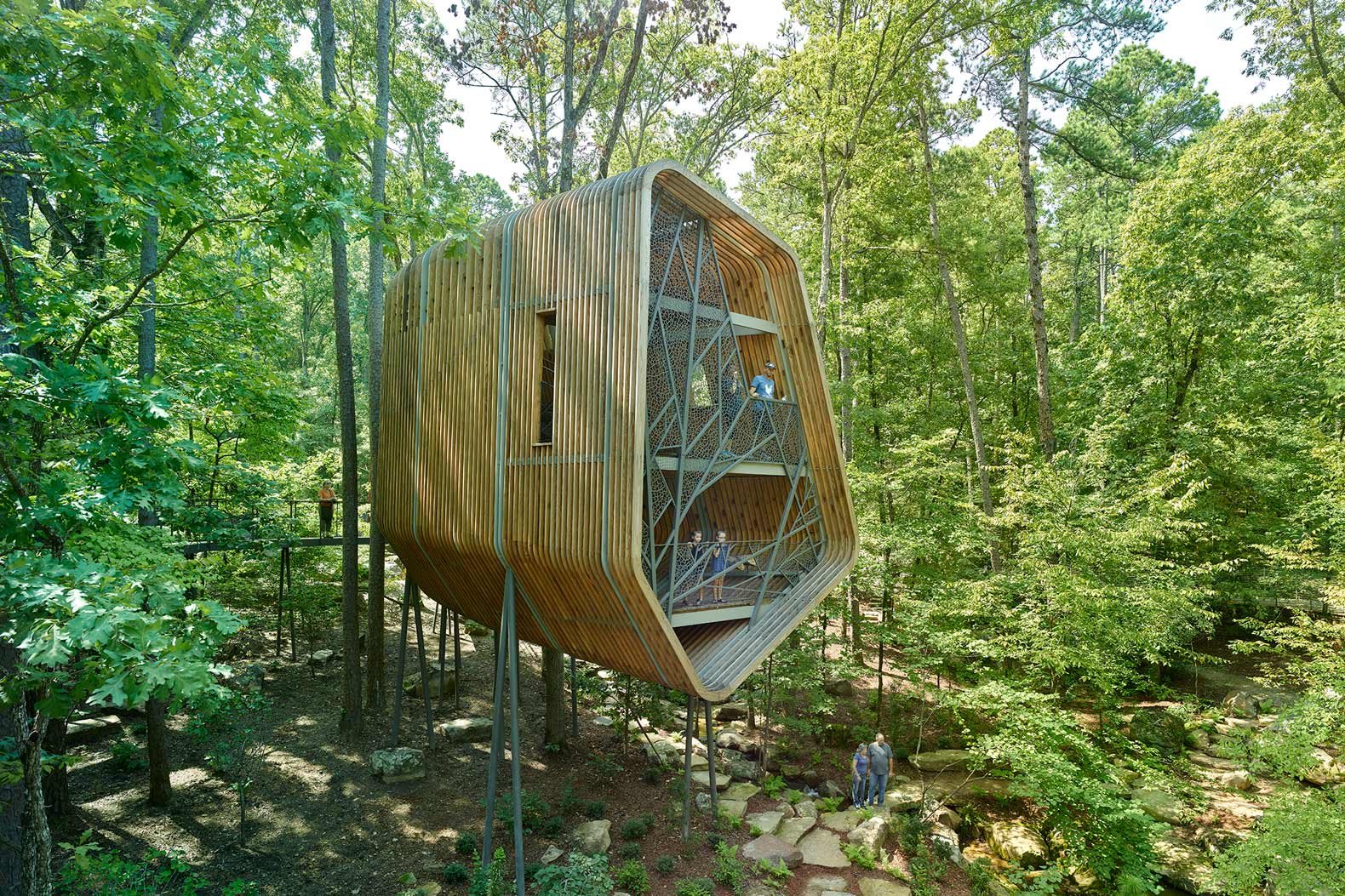 Futuristic treehouse in Arkansas is designed to inspire imagination