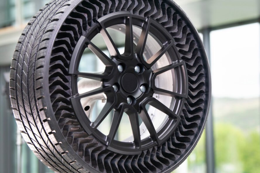Michelin and GM are moving down the road with airless wheel