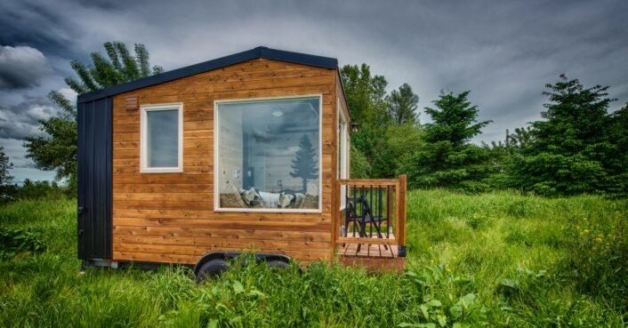 This rustic tiny home on wheels spans just 90 square feet