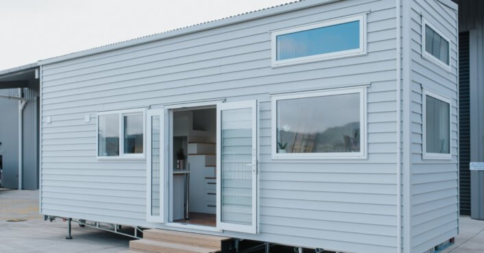 With dual sleeping lofts, this family-friendly tiny home proves