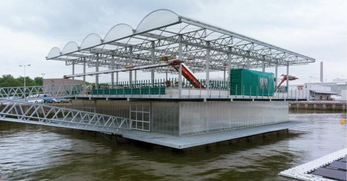 Sustainable floating dairy farm in the Netherlands is home to 40