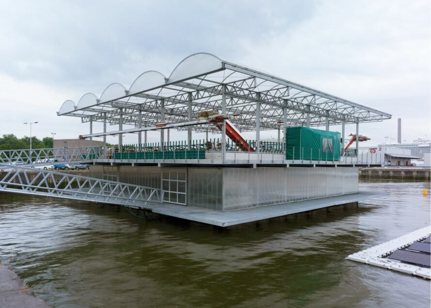 a floating dairy farm