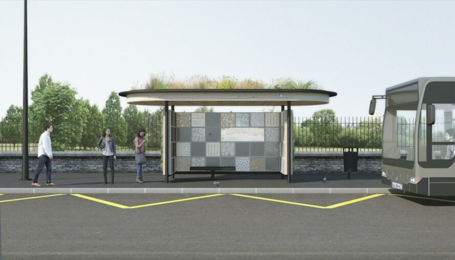 Studio NAB wants to boost urban biodiversity with an insect hotel at a bus stop