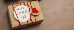 "gift box that reads ""Happy Father"
