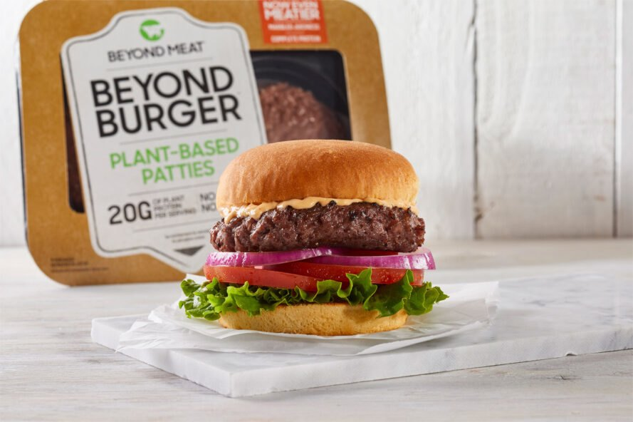 beyond burger on a plate