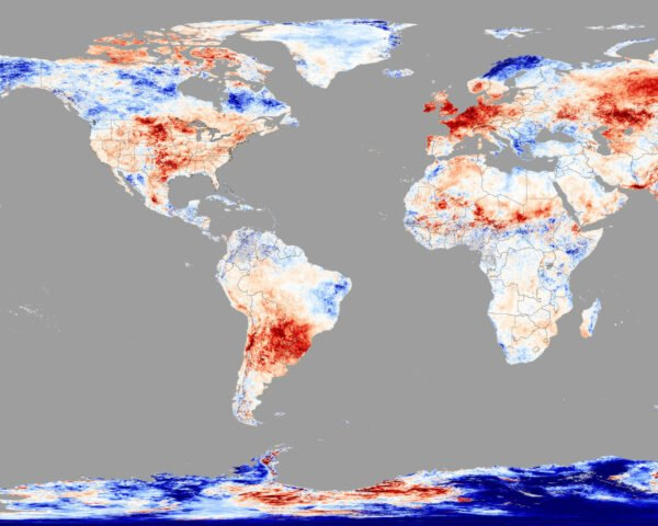 map of heat wave across the world