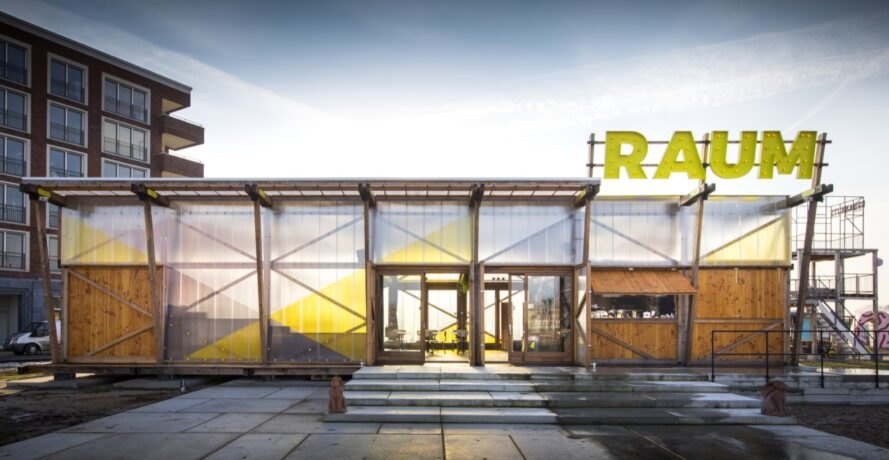 Sustainable RAUM Pavilion can be continually reused or recycled in