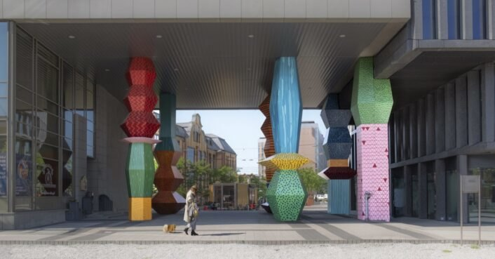 Giant totems in Poland warn against climate change catastrophe