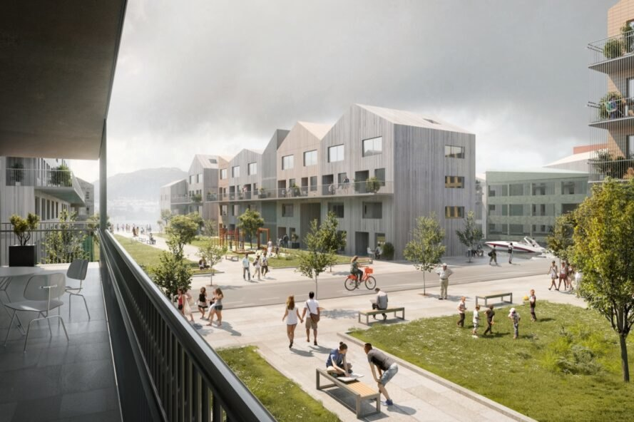 Zero-carbon masterplan on the water aims to revitalize Bergen's