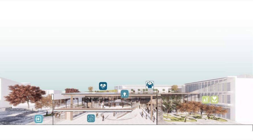 rendering of the schools extension map