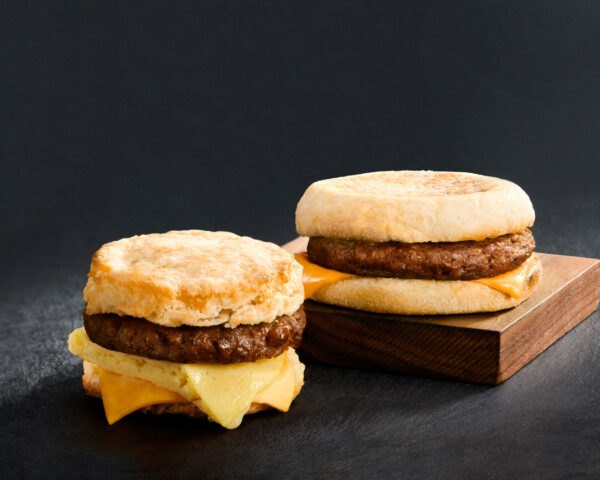 plant-based sausage breakfast sandwiches