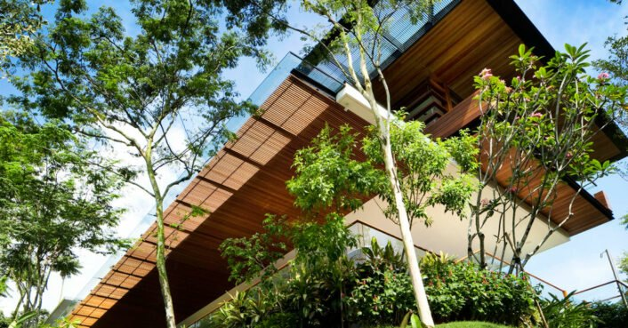 Stunning solar-powered home in Singapore melds with adjacent