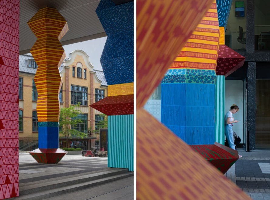 colorful geometric sculptures