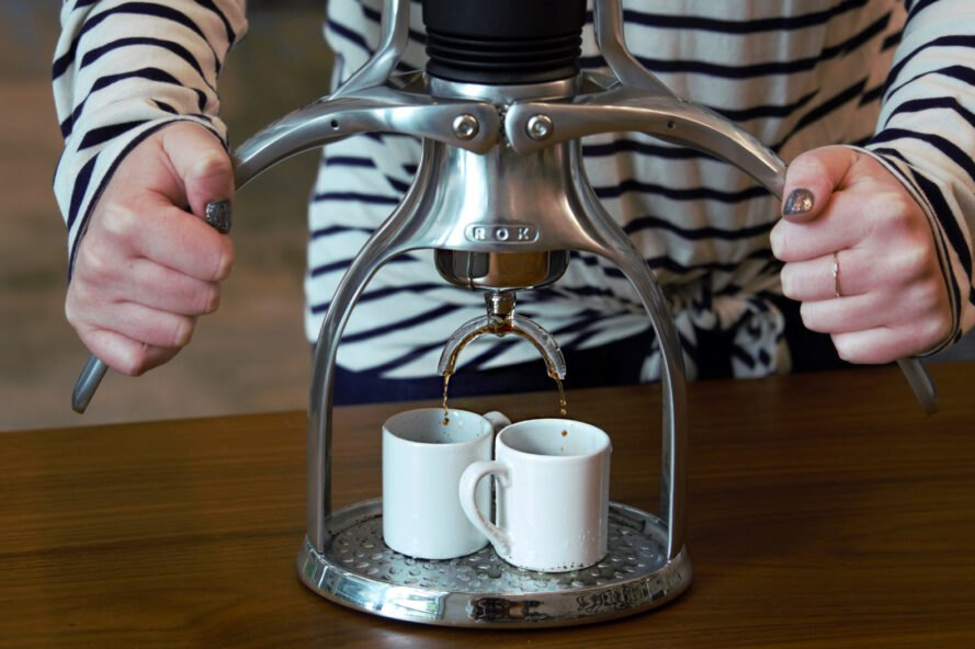 This zero-waste espresso machine is powered by human strength