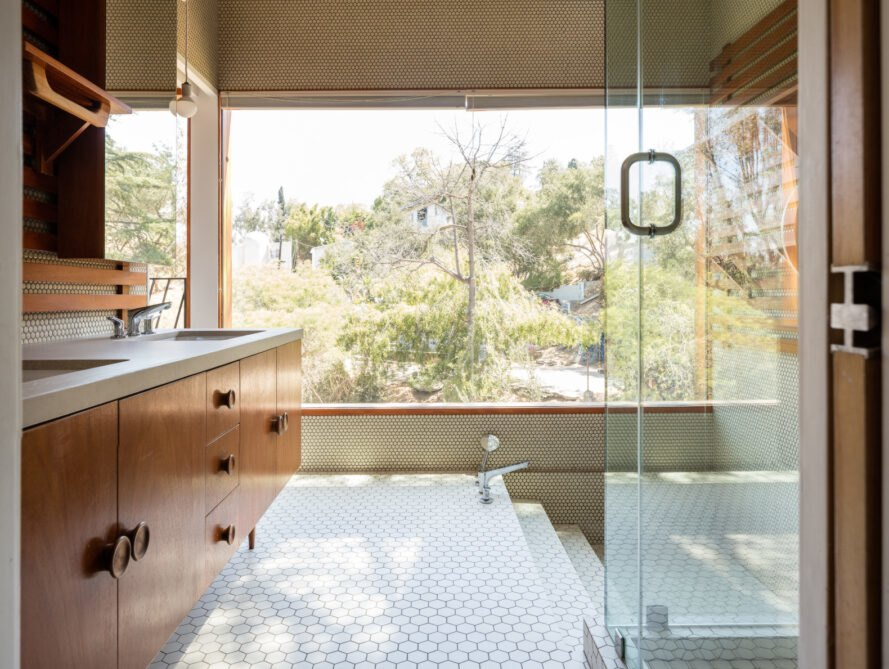 bathroom with ultra-large window