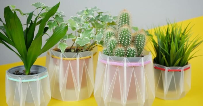 Engineers invent origami-inspired self-watering pots that are made