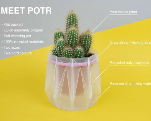 Engineers Invent Origami Inspired Self Watering Pots That Are Made From 100 Recycled Materials