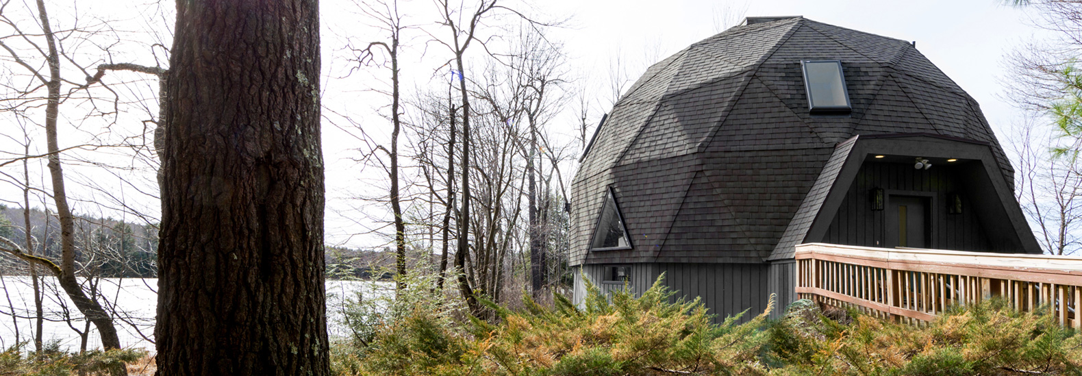 Designer stylishly revamps a geodesic dome