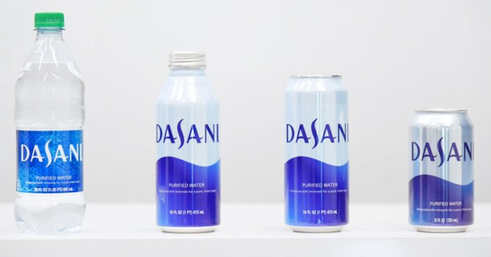 Coca-Cola to offer Dasani water in aluminum cans and bottles to