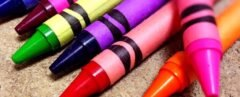 bright colored crayons