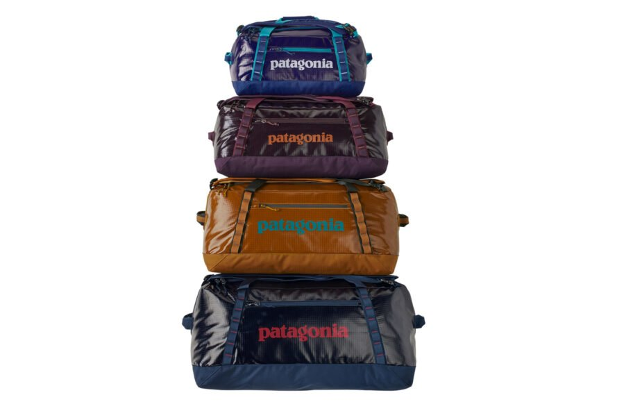 stack of various colors of duffel bags