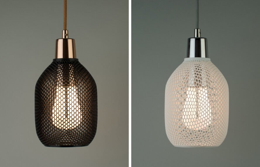 Plumen Hive shade is 3D-printed and biodegradable