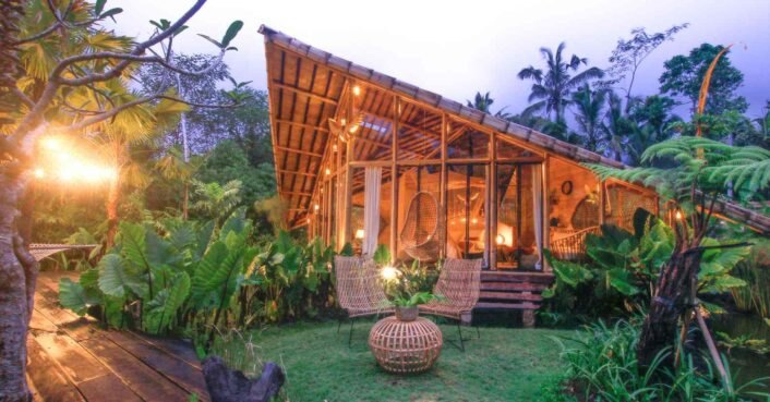 All-bamboo retreat in Bali features all you need for a serene