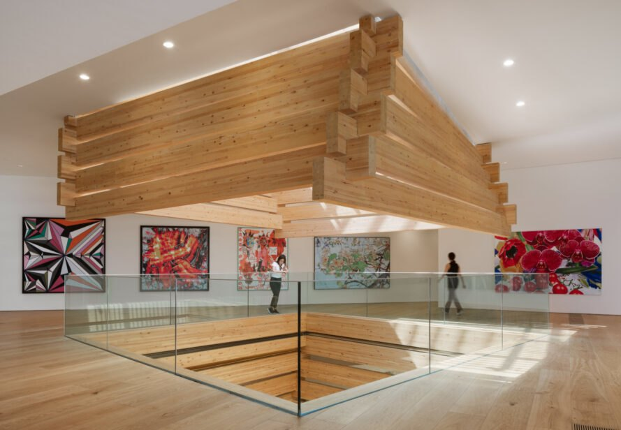 timber atrium in a museum