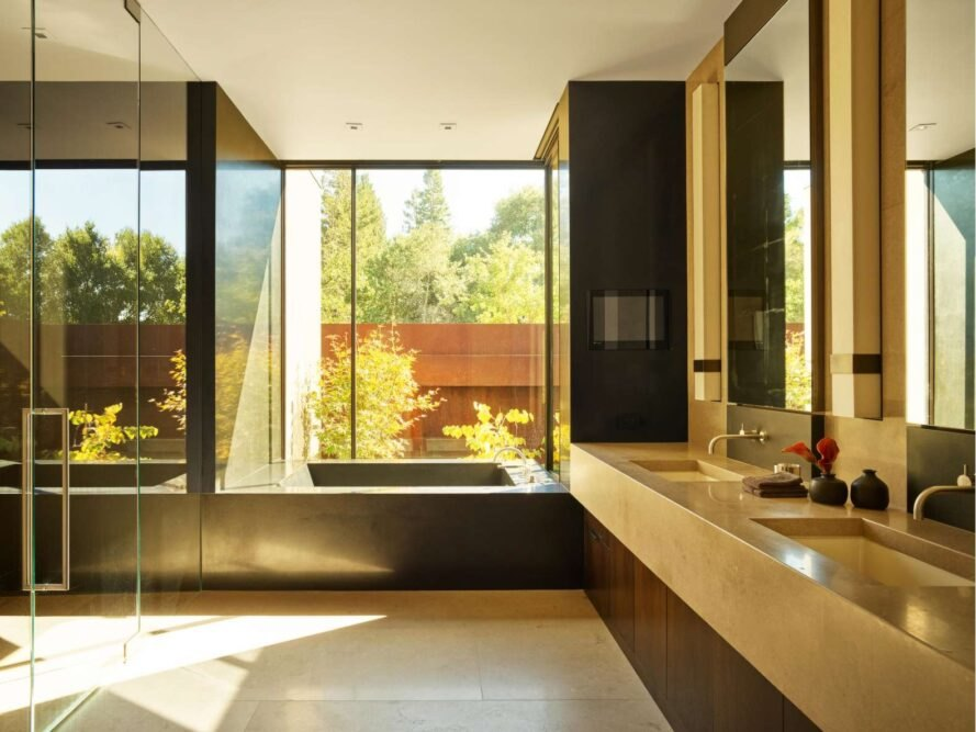 large contemporary bathroom