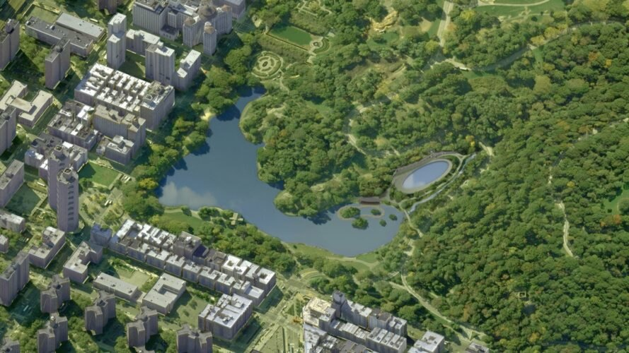 aerial rendering of revamped Central Park