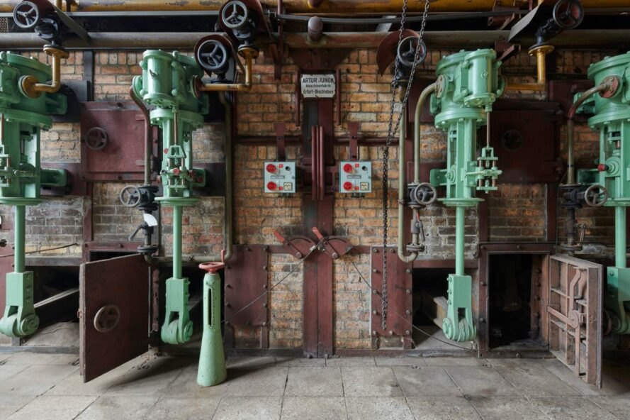 pipes in old industrial room