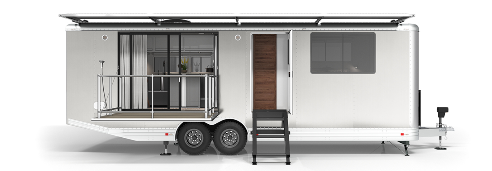 Living Vehicle's 2020 travel trailer generates a whopping 200 percent more solar power than its previous model