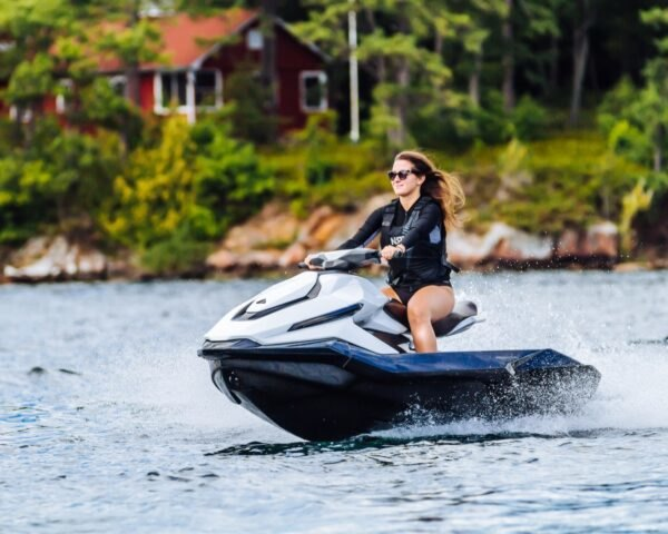 woman on electric water ski