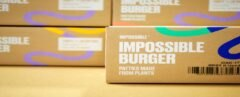 packages containing plant-based burger patties