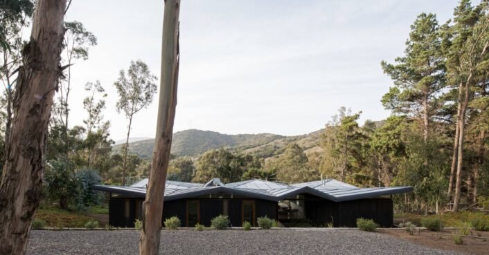 Architects use simple, low-cost and efficient materials to create spectacular home with 'flying roof' in Chile