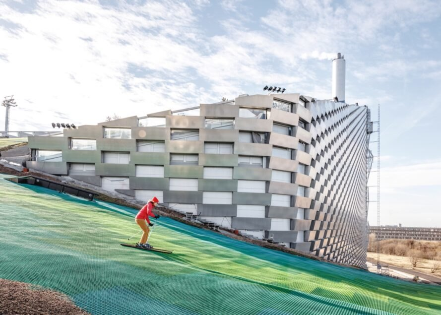 Ski atop the world's cleanest waste-to-energy plant in Copenhagen