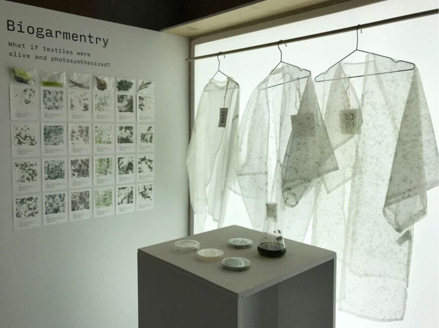 showroom with transparent garments