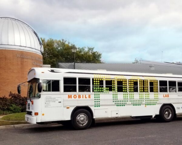 old bus converted into Mobile Food Lab