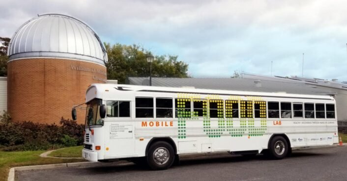 Old bus is converted into a mobile greenhouse to teach students
