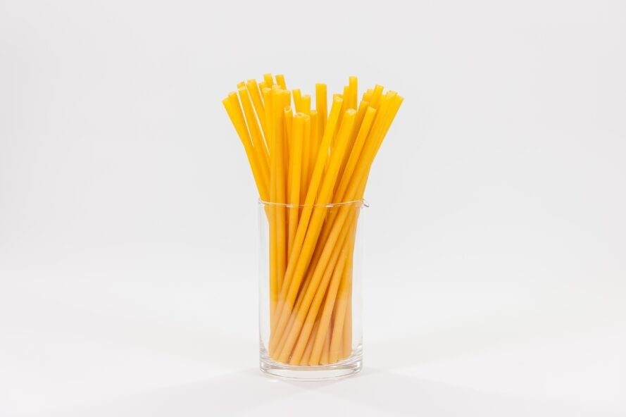 pasta noodles used as straws